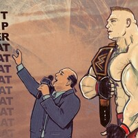 Brock Lesnar, Paul Heyman, the beast incarnate wwe wrestling
