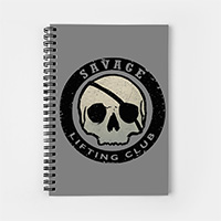 savage lifting club workout notebook